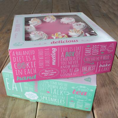 Set 2 cajas para pasteles Quotes 26x26x12 cm