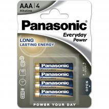 4 piles AAA alcalines Panasonic Everyday