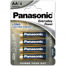 4 piles AA alcalines Panasonic Everyday
