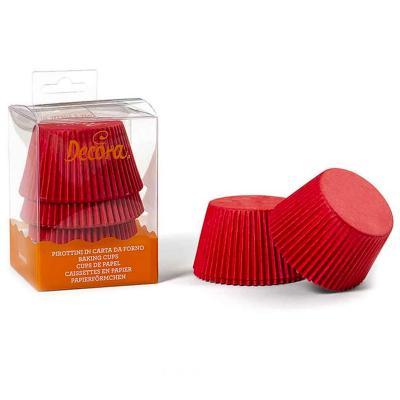Papel cupcakes jumbo x60 Rojo