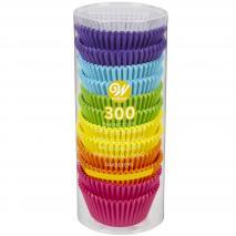 Papel cupcakes x300 Rainbow brillante