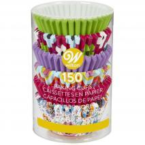 Papel mini cupcakes x 150 multi rosa