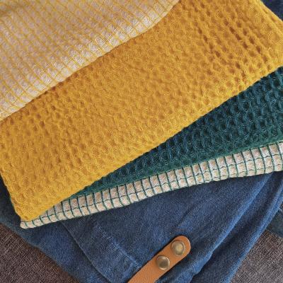 Delantal 100% algodón Dinem tejano y cuero