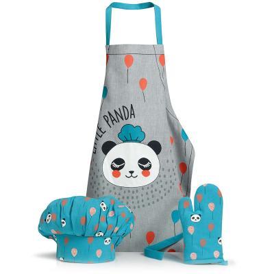Set delantal de cocina infantil Panda