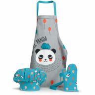 Set davantal de cuina infantil Panda