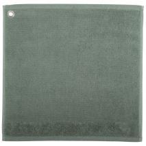 Toalla de cocina Curl 100% algodón verde gris