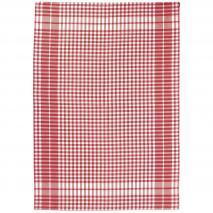 Paño de cocina 100% algodón Petits Carreaux rojo