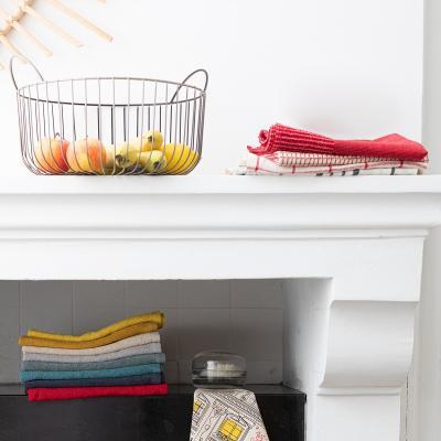 Paño de cocina nido de abeja 100% algodón Bi rojo