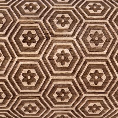 Rodillo con patrón grabado Hexa madera 39 cm