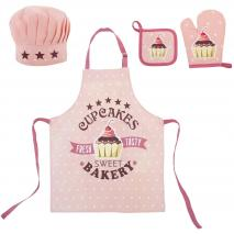 Set davantal de cuina infantil 100% cotó Cupcakes