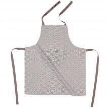 Delantal de cocina 100% algodón Tetris taupe