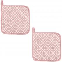 Set 2 protectors de cuina 100% cotó Dot rosa