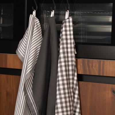 Set 3 paños de cocina 100% algodón  XL-Lines gris