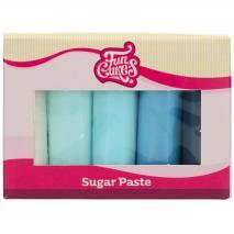 Set 5 fondants Funcakes 5x100 gr paleta azules