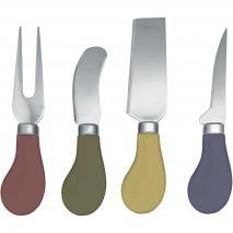 Set 4 cuchillos queso colores