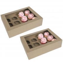 Juego 2 cajas para 12 cupcakes Kraft