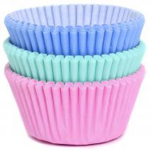 Paper cupcakes x75 mix pastel