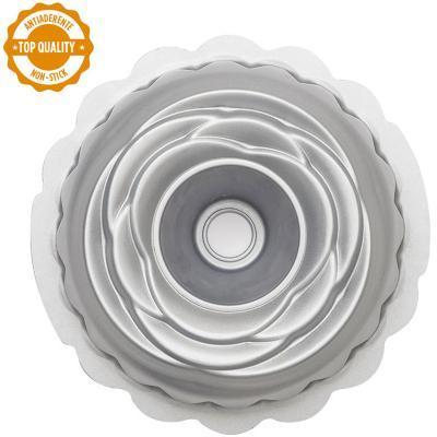 Molde antiadherente Rosa bundt 20 cm
