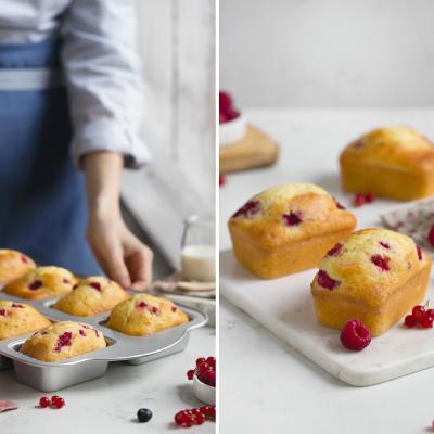 Molde antiadherente mini plum cakes 8 cavidades