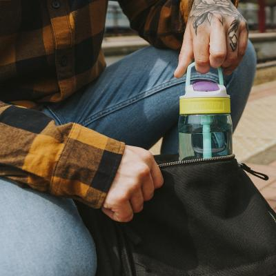 Botella de agua con pajita Lagoon 750 ml Candy