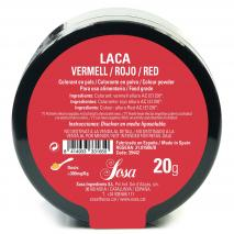 Colorante laca liposoluble polvo 20 g rojo