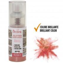 Spray pump comestible brillant 10 g or rosa