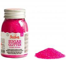 Decoración azúcar brillante 100 g fucsia