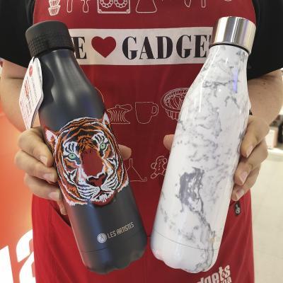 Botella térmica UP 500 ml Marmol negro y blanco