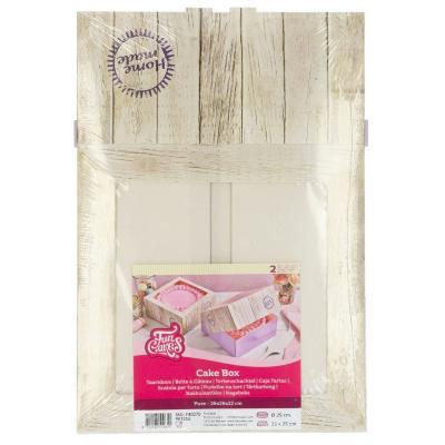 Set 2 cajas para pasteles Pure 26x26x12 cm