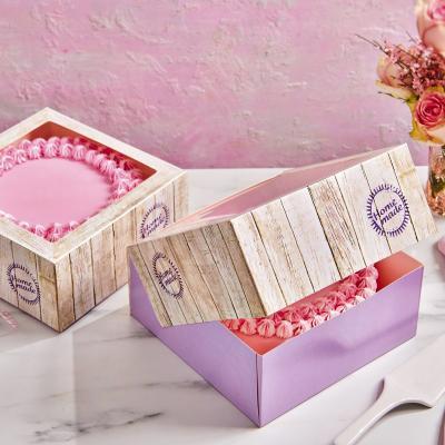 Set 2 cajas para pasteles Pure 32x32x12 cm