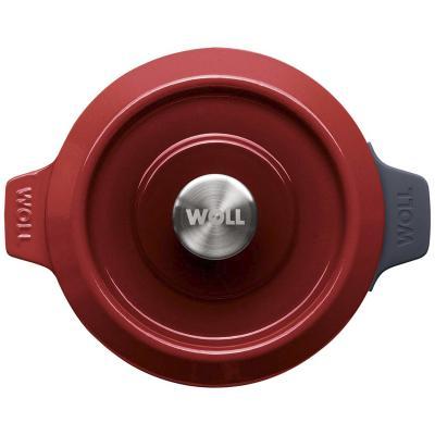 Cocotte hierro fundido Iron Woll 20 cm rojo chili