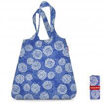 Bolsa compra plegable shopper Batik azul