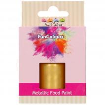 Pintura alimentaria metálica 30 ml Dorado