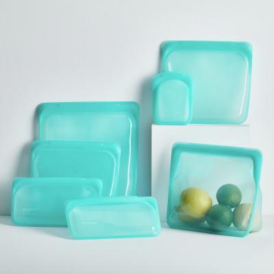 Bolsa silicona reutilizable Stasher S de pie aqua