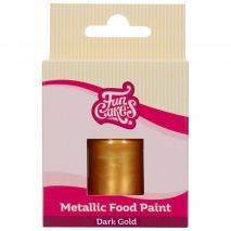 Pintura alimentaria metálica 30 ml Dorado oscuro