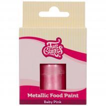 Pintura alimentària metàl.lica 30 ml Baby rosa