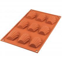 Motllo silicona Madeleine 6,8x4,5x1,7 cm cav 9
