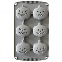 Molde silicona Calabazas Halloween 6 cav
