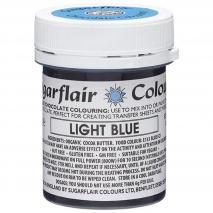 Colorante Chocolate base manteca cacao azul claro