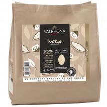 Cobertura chocolate blanco Valrhona Ivoire 35% 1k