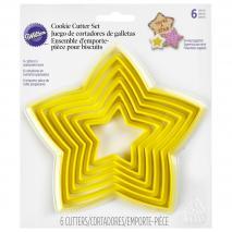 Juego 6 cortadores galletas estrella 4-12 cm