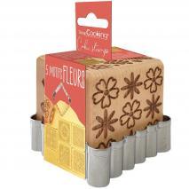 Tallador galetes i segells de fusta Flors