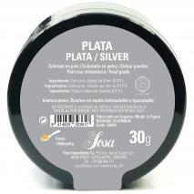 Colorant en pols sosa 30 g Plata