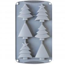 Molde silicona Árboles Navidad 6 cav