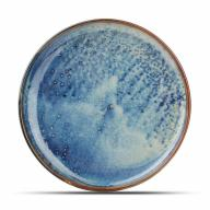 Plato llano degradado azul