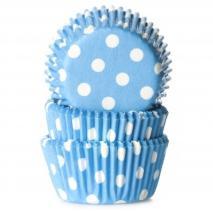 Papel  mini cupcakes topos azul x60