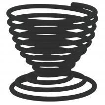 Soporte huevo duro espiral