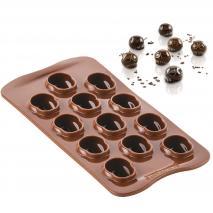 Molde bombones silicona 3D Calavera x12